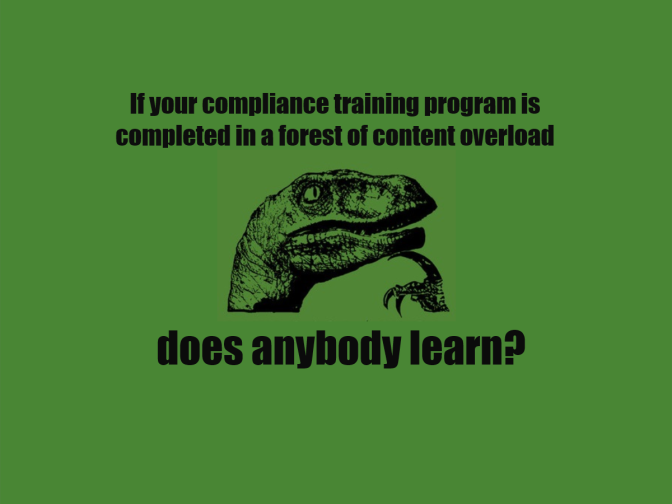 give your compliance learning program a shake up