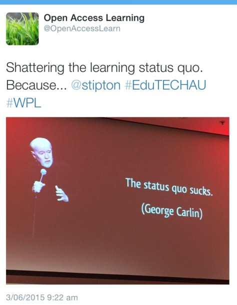 Learning Status Quo