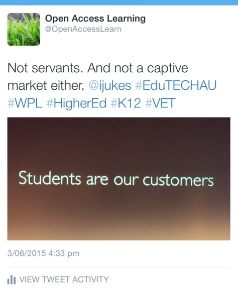 Students are our customers